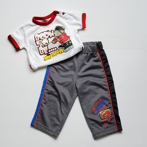 Track Pants and Onesie Set 6-12 Months